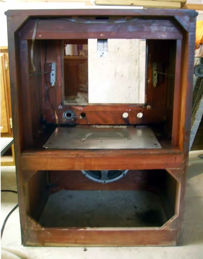 empty RCA Victor cabinet