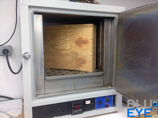 Post Curing Mold in oven